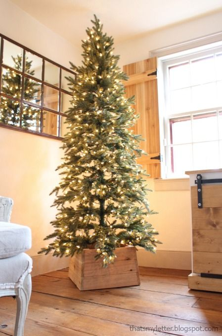 Build a Wood Christmas Tree Base using simple tools and supplies. Add a rustic tou