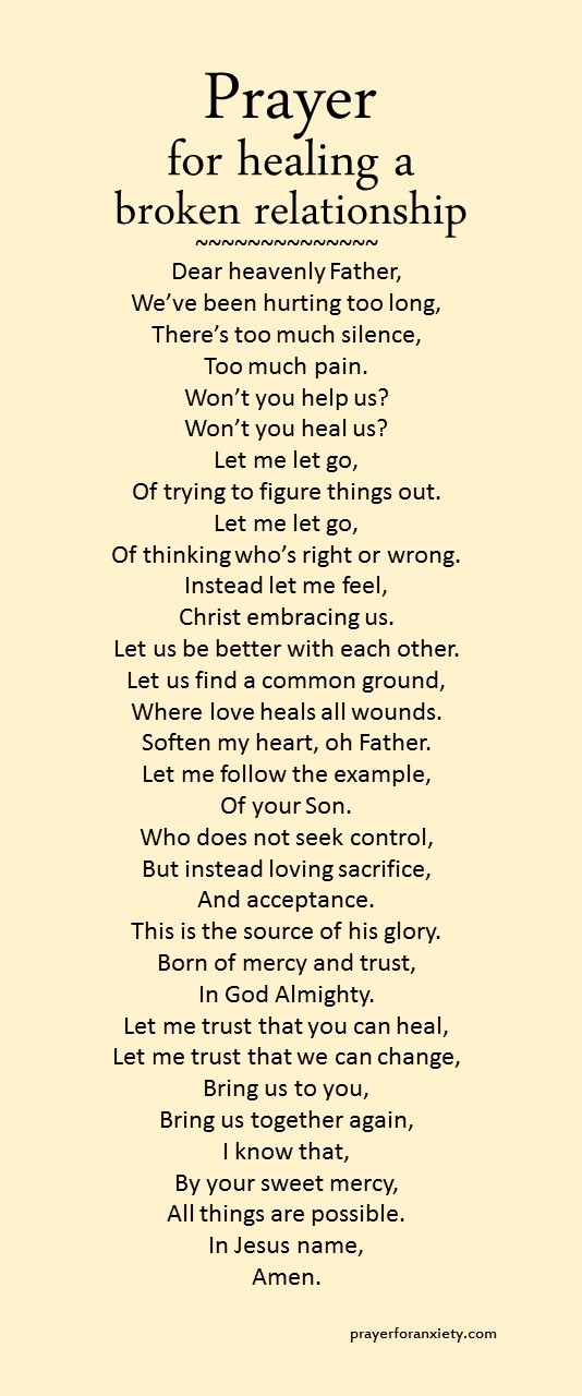 If you are hurting, this prayer can help inspire you to seek Gods healing. As