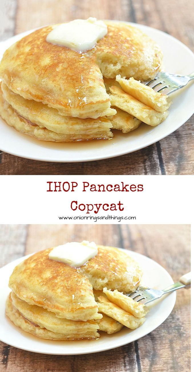 Plump and pillowy, these IHOP pancakes copycat are just as tasty and delicious as