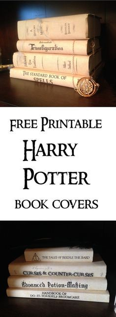 Harry Potter Book Covers Free Printables. Print these for your Harry Potter Hogawr