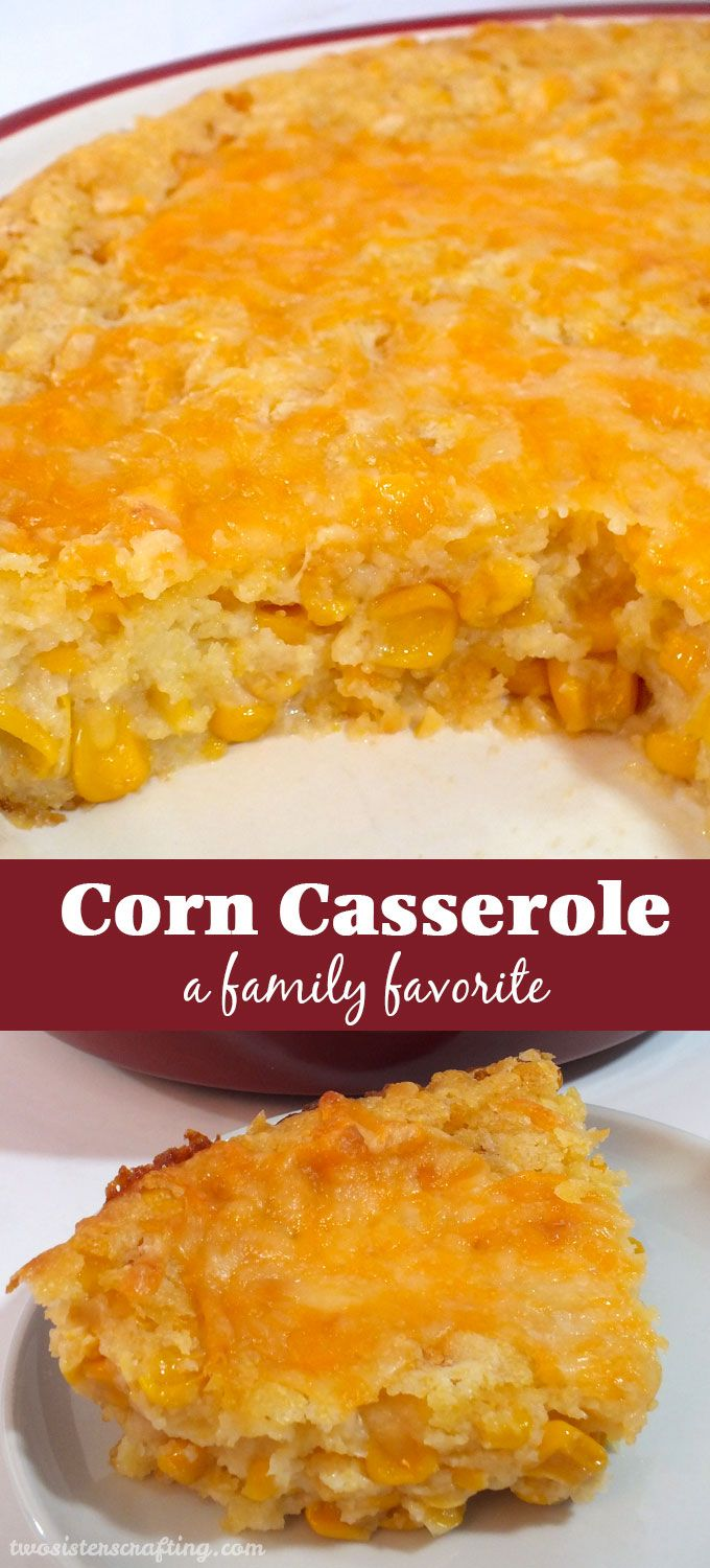 Our Corn Casserole recipe is a family favorite Thanksgiving food side dish – this