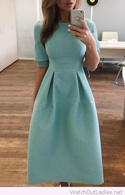 Perfect aqua chic dress for teachers