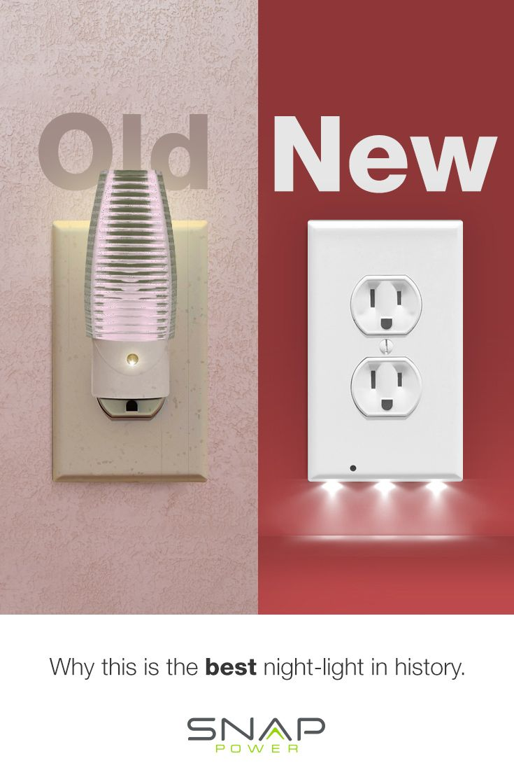 The Nightlight Reinvented! No more old school style nightlights when you can have