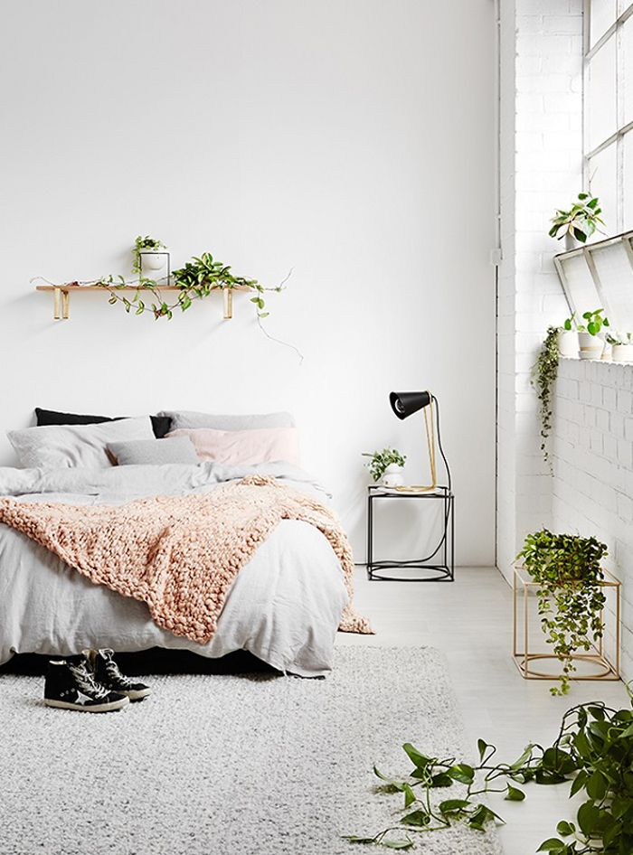 rugs in the home | bedroom | house plants | minimal interior design | clean space