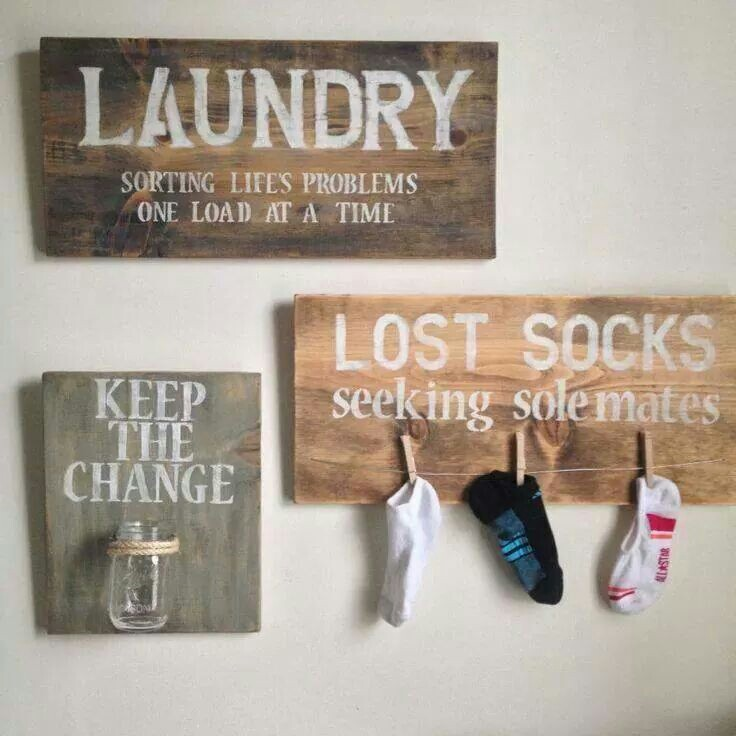 cute cute cute decorations for the laundry room…..and practical!