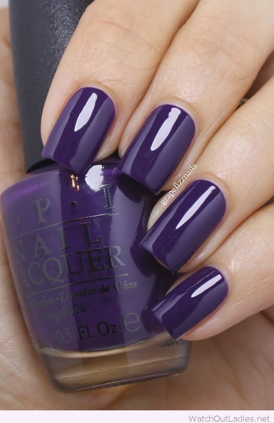 Dark purple OPI nail polish www.ScarlettAvery…