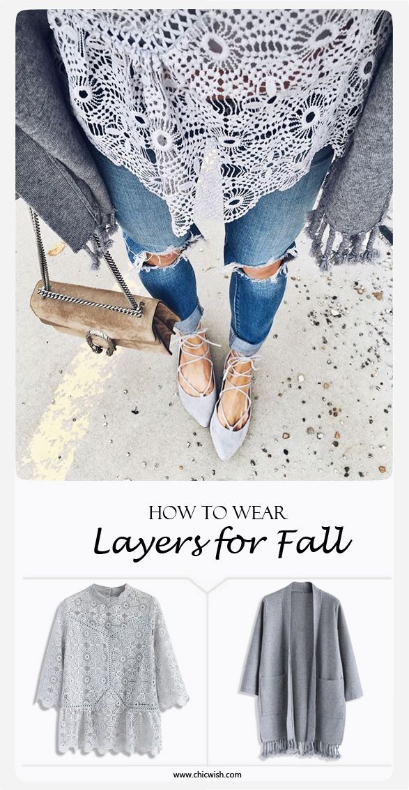 How to Wear Layers for Fall  Art of Crochet Top and Easy to Be Chic Tassel Trimmed