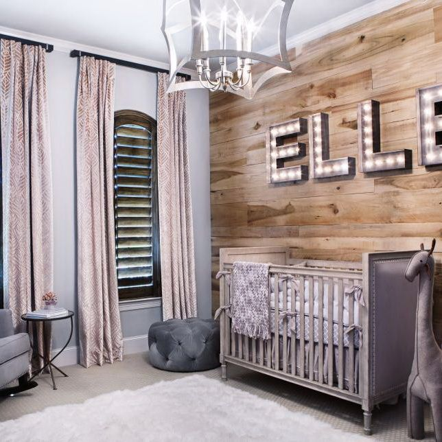 Baby will love this charmingly rustic nursery for years to come. Instead of wallpa