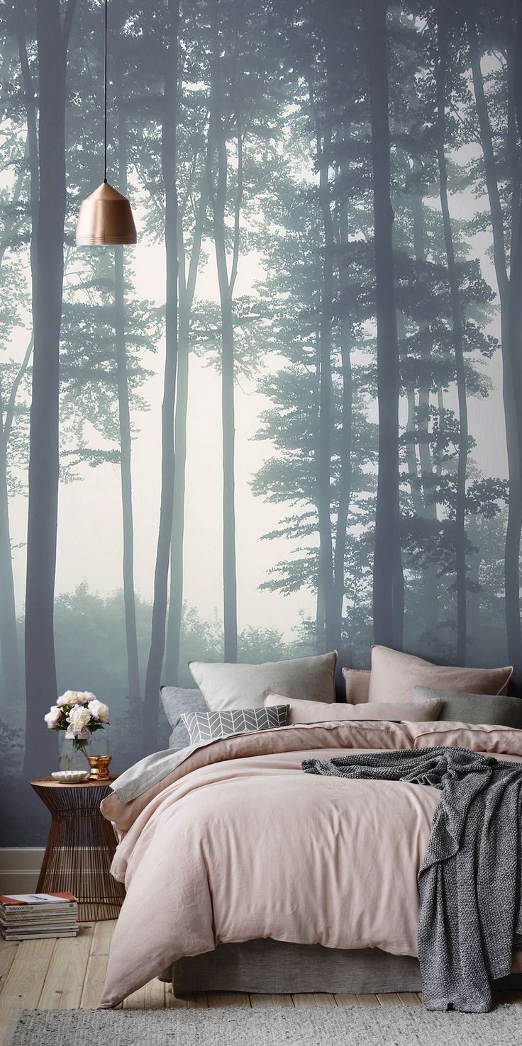 One of our most popular forest murals. Sea of Trees Forest Mural is super dreamy a