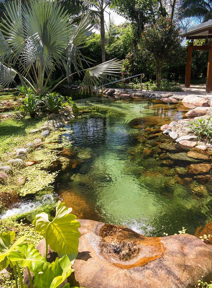Natural Pool – designed by Peter Nitsche, with large, smooth granite boulders and