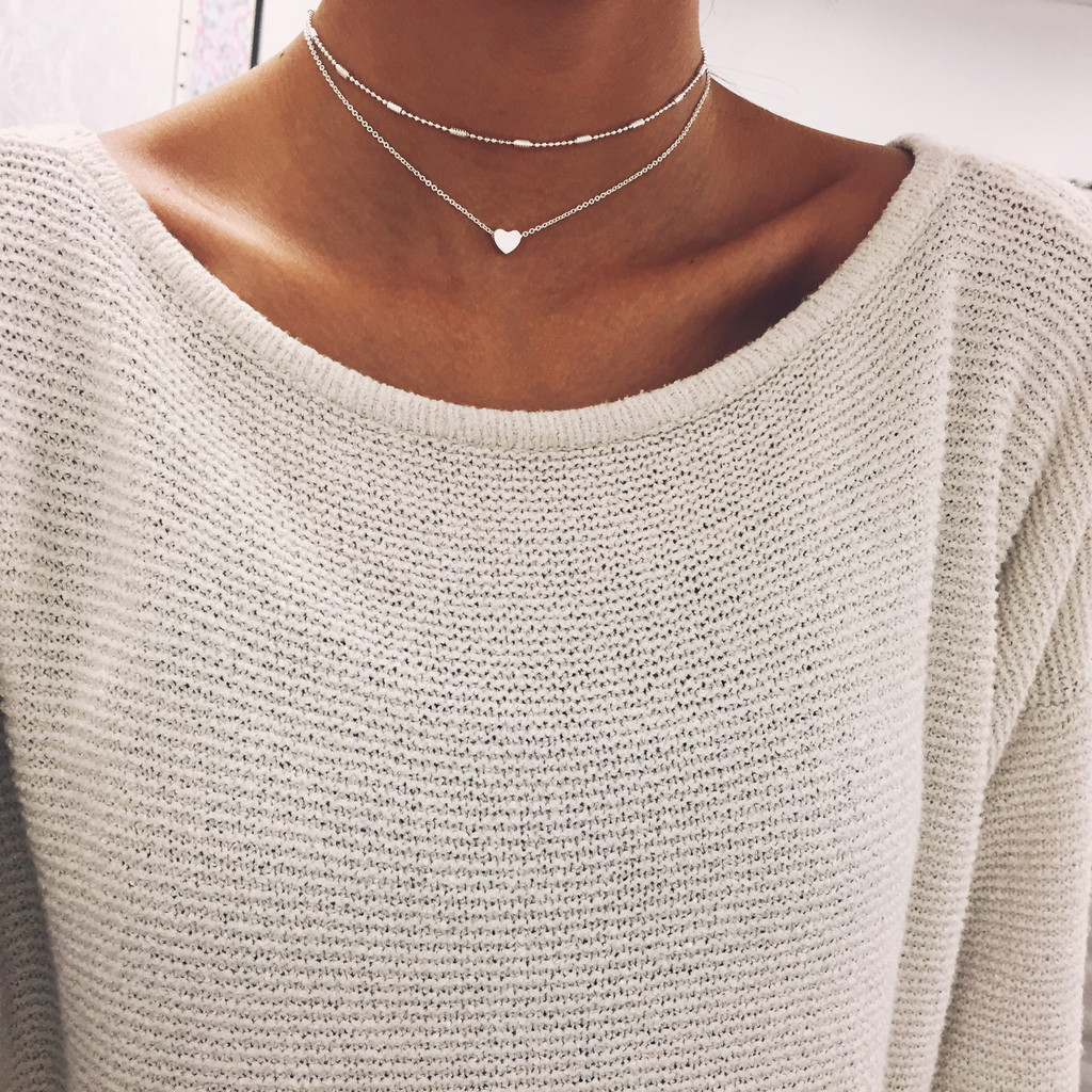 Silver Heart Chain Choker | Stargaze Jewelry Seriously in love with this choker! W