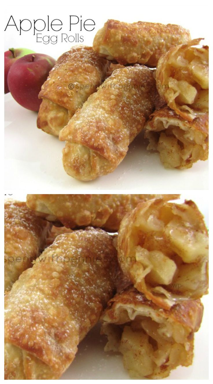 Apple Pie Egg Rolls!  Crispy crust with a warm apple pie filling… if you liked t