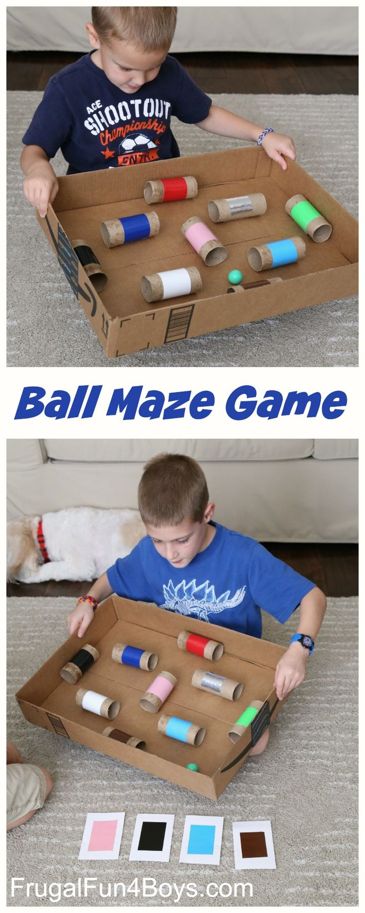 Make a Ball Maze Hand-Eye Coordination Game – Great boredom buster for kids!