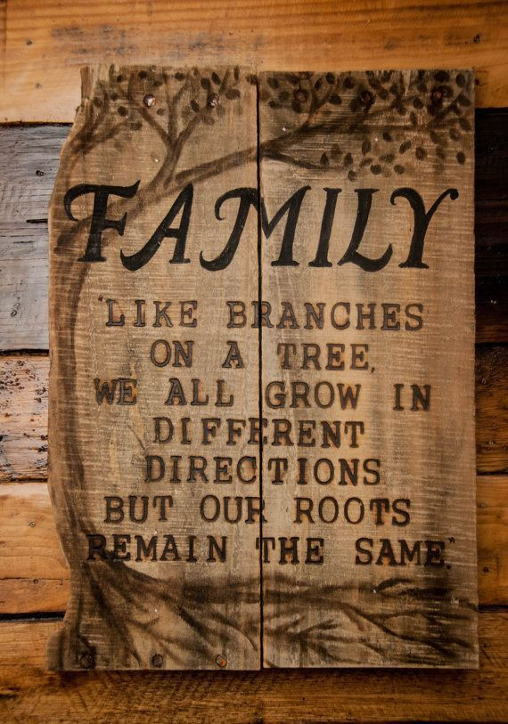Family  Rustic Recycled Pallet Wood Sign  Wood by SimplyPallets Like us on Faceboo