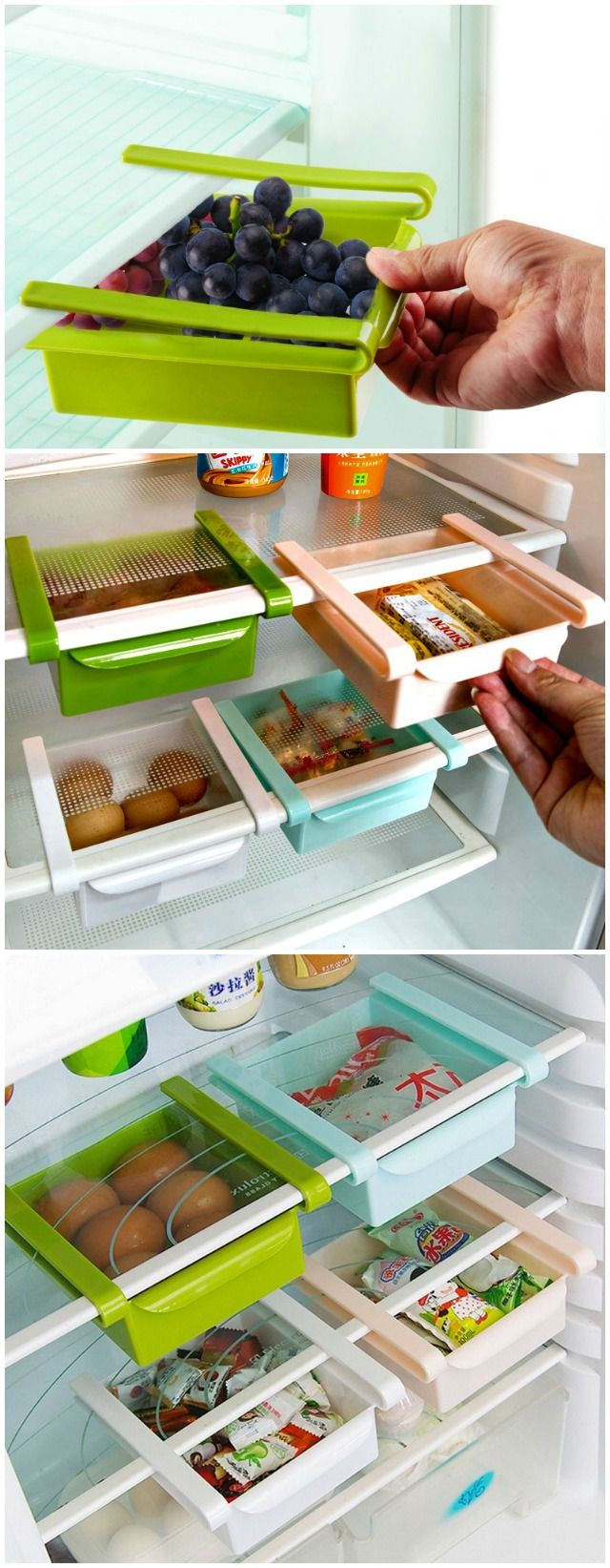 Maximize your storage space with the Refrigerator Sliding Drawer. Large enough to