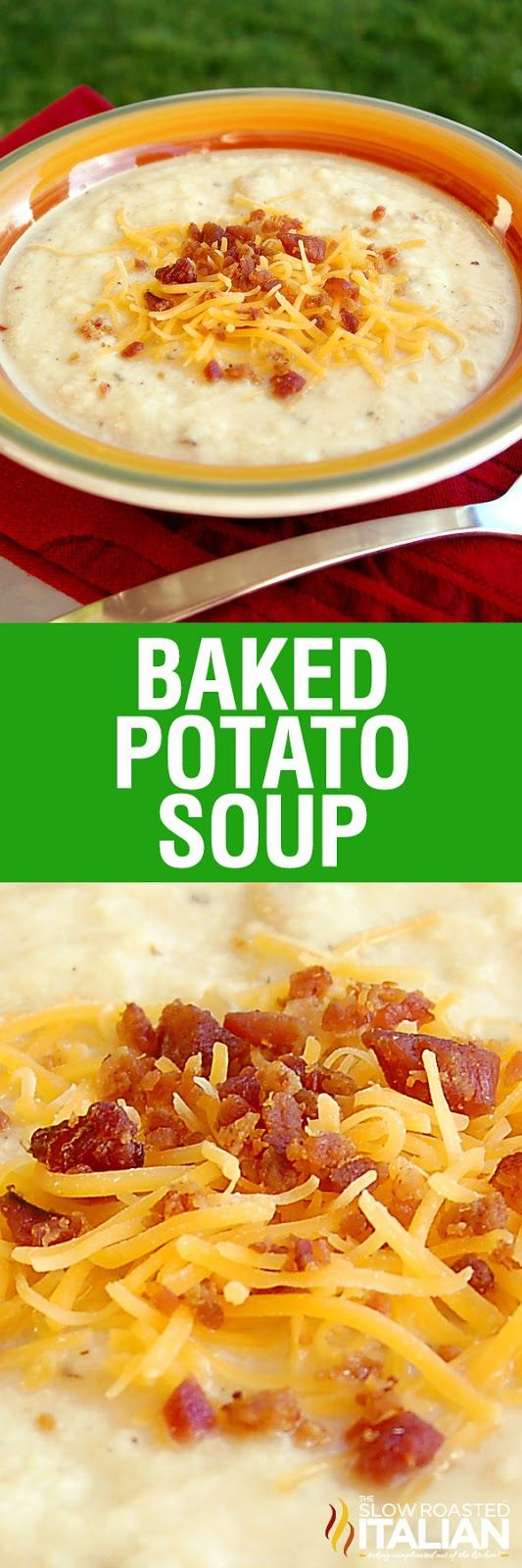 Baked Potato Soup is rich and creamy and has all your favorite potato fixins