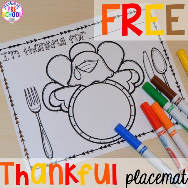 Thanksgiving and turkey themed activities and centers for preschool, pre-k, and ki
