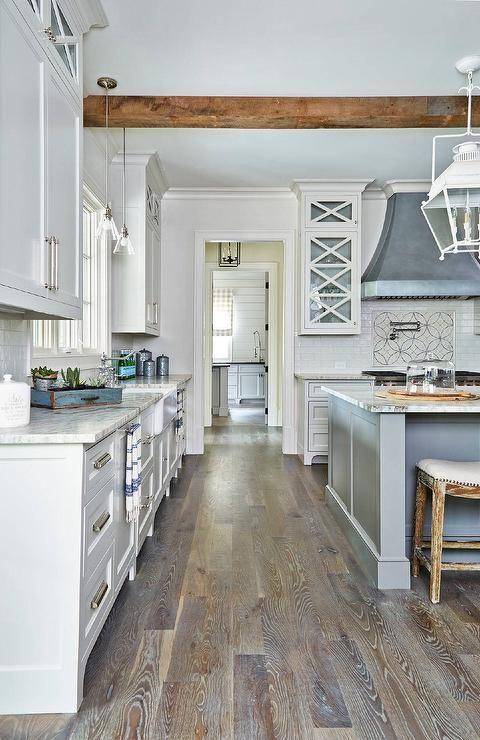 Light gray and dark gray kitchen
