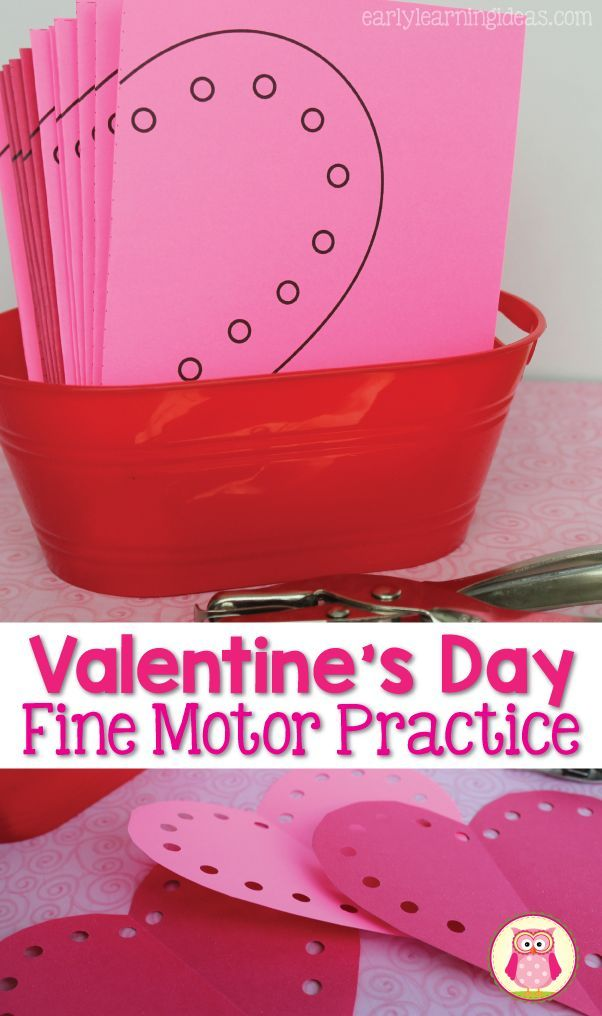 Valentine fine motor activity – these free heart cutting templates are a great way