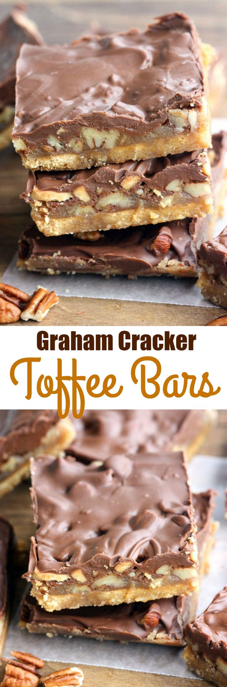 Graham Cracker Toffee Bars – only 5 ingredients to make the tastiest, easiest toff
