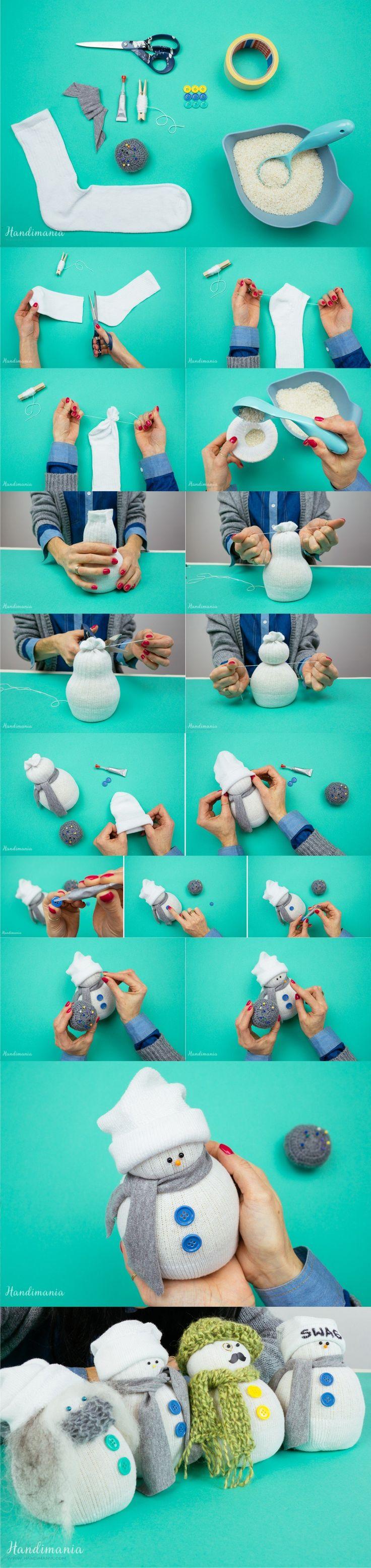 Muñeco de navidad con calcetín – handimania.com