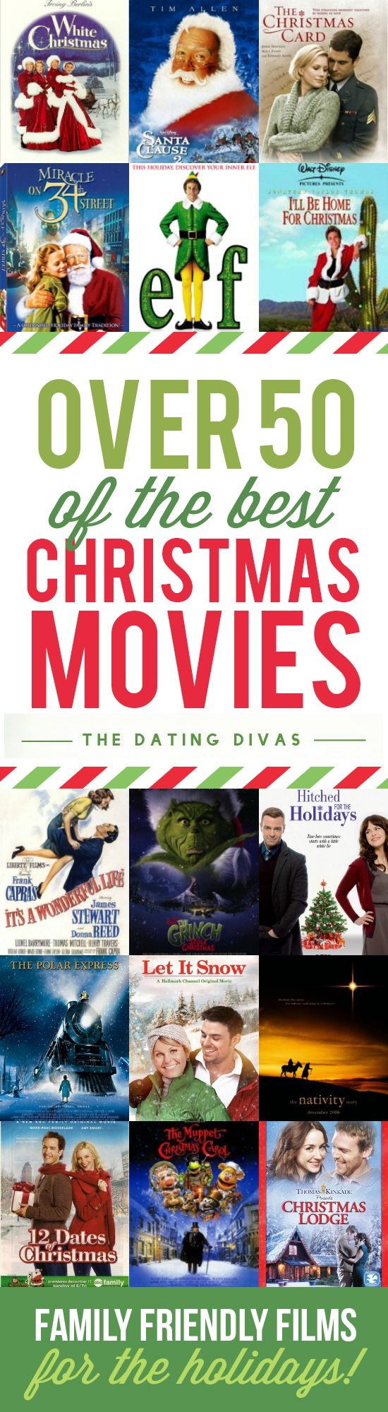 50 of the best Christmas movies all in one place! These are family-friendly films