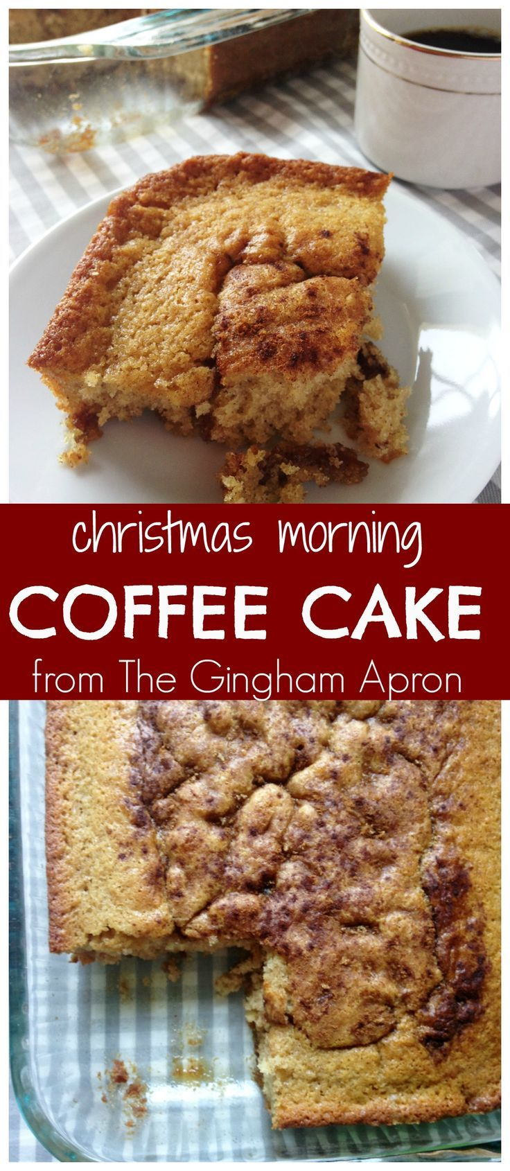 Christmas Morning Coffee Cake: Assemble this way in advance, and then just pop it