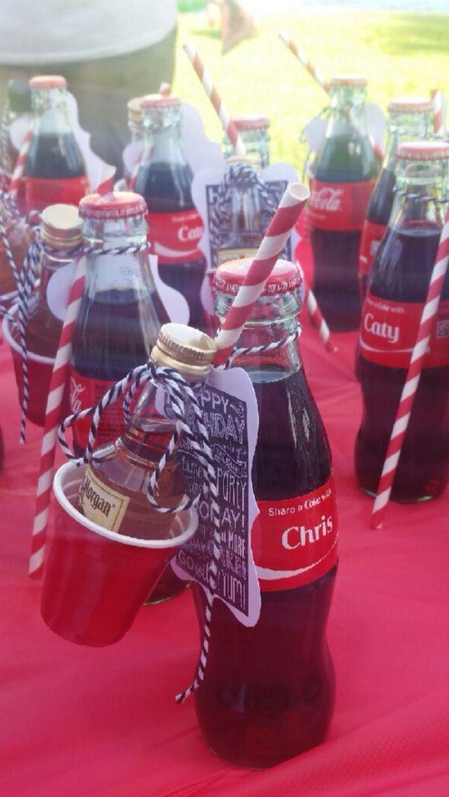 Coca-Cola Party Favor     Cokes purchases thru Share a Coke website.  Straws, twin