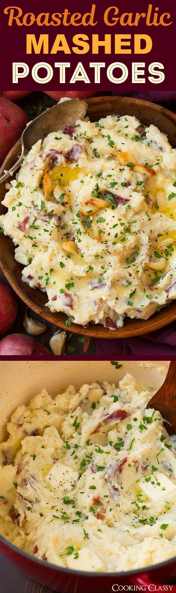 Roasted Garlic Mashed Potatoes – the ultimate comfort food! The roasted garlic mak