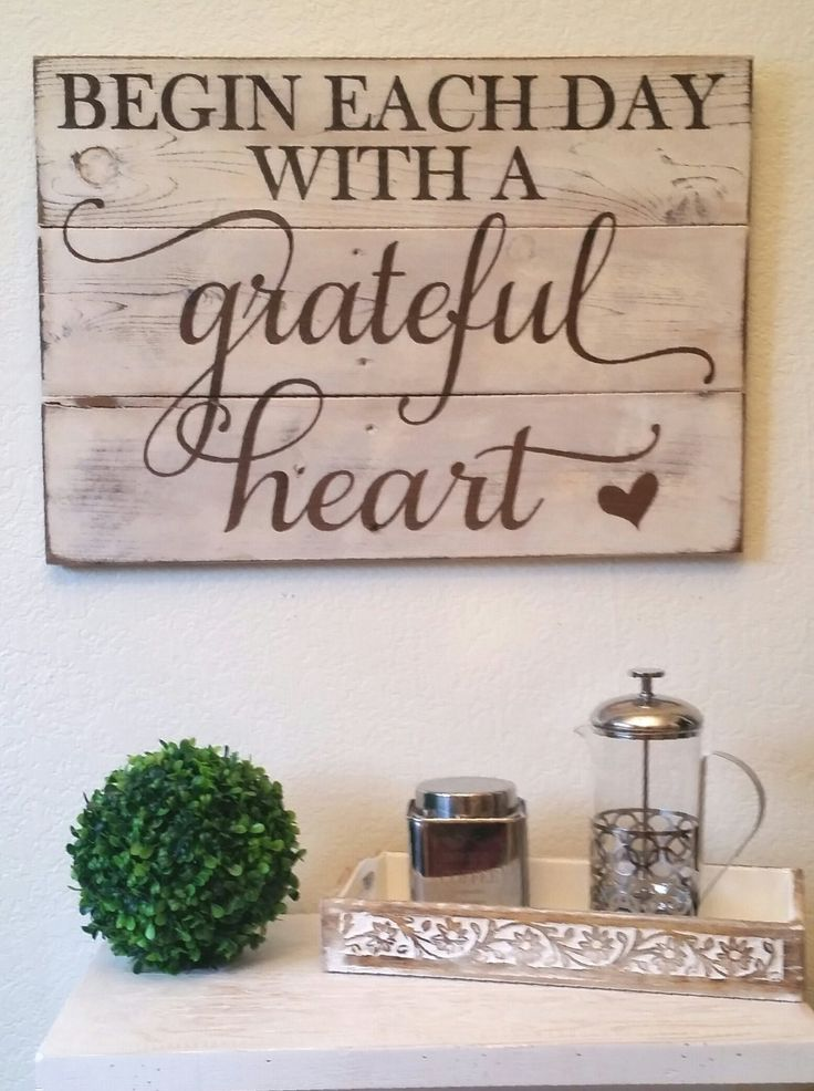 Amazon.com: Rustic Engraved Wood Sign – 23″ x 16″ – Begin Each Day with a Grateful