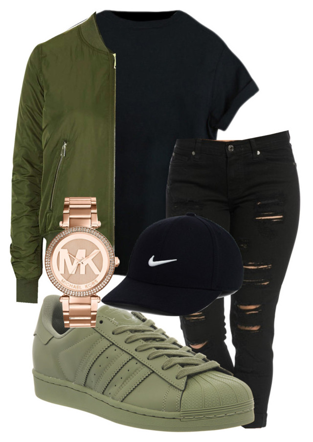 """""""winter falls outfit"""" by rabiamiah on Polyvore featuring adidas, Topshop"""