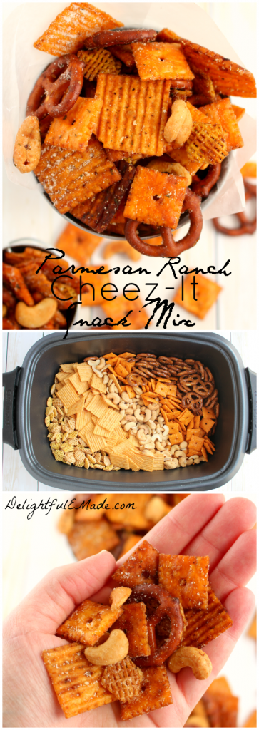 Crunchy, savory and completely irresistible!  This crock pot snack mix is made wit