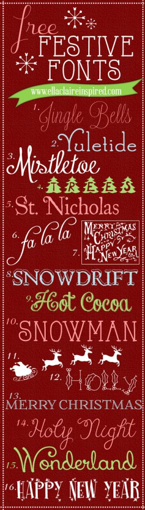 100 Best Holiday Free Fonts   Free Font Friday