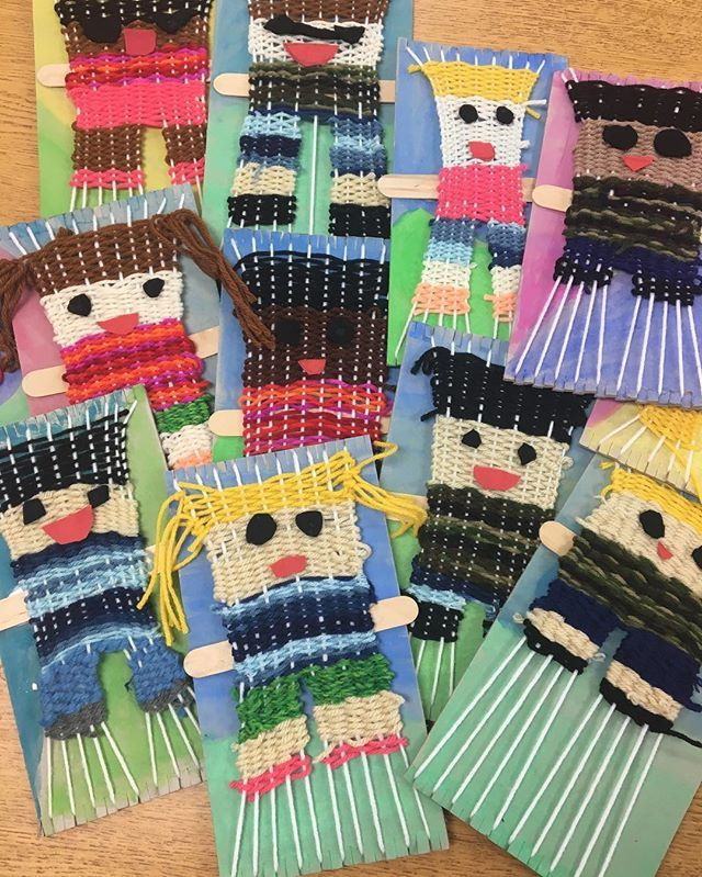2nd grades woven portrait turned out adorbs but SHEW! It took forever and a d