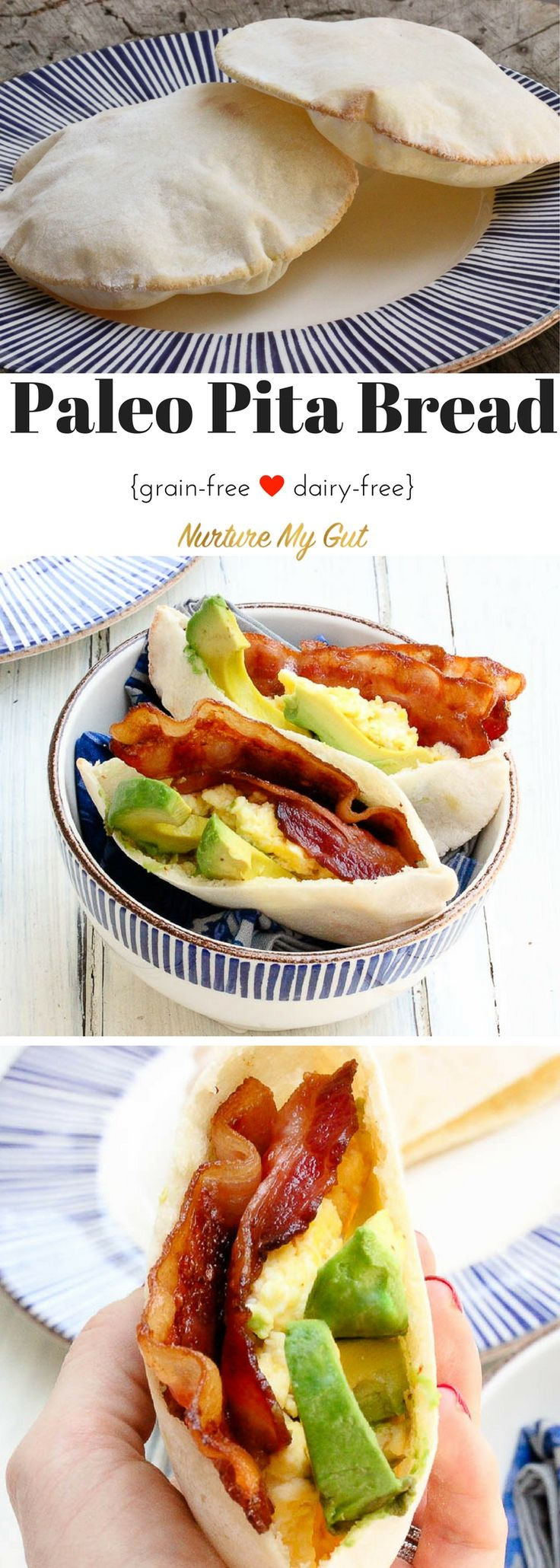 Craving Pita Bread? Look no further!  These pitas puff up perfectly in the oven and are an insanely good breakfast when stuffed
