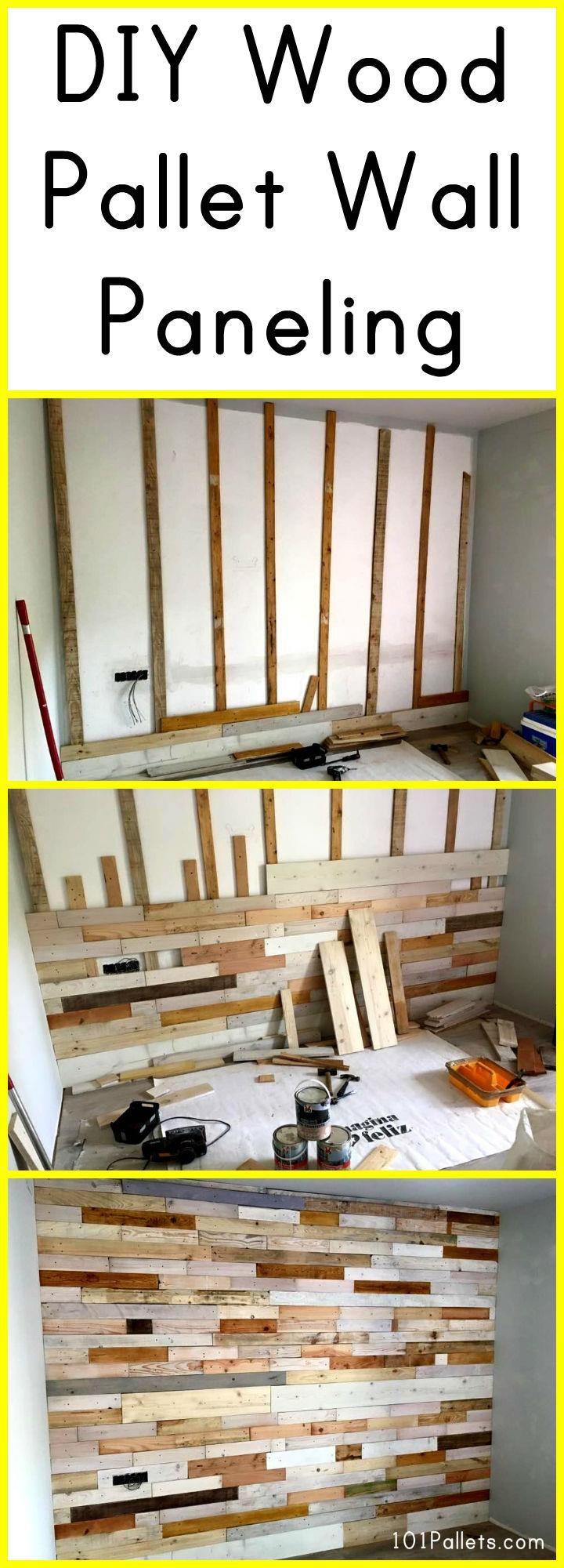 DIY Wood Pallet Wall Paneling