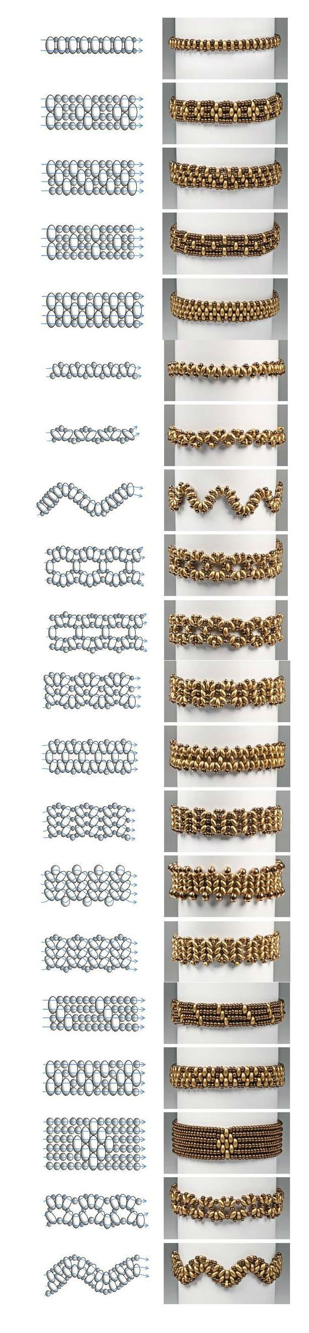 Preciosa Projects – Twin Bracelets Easy and Simple Pattern featured in Bead-Patter
