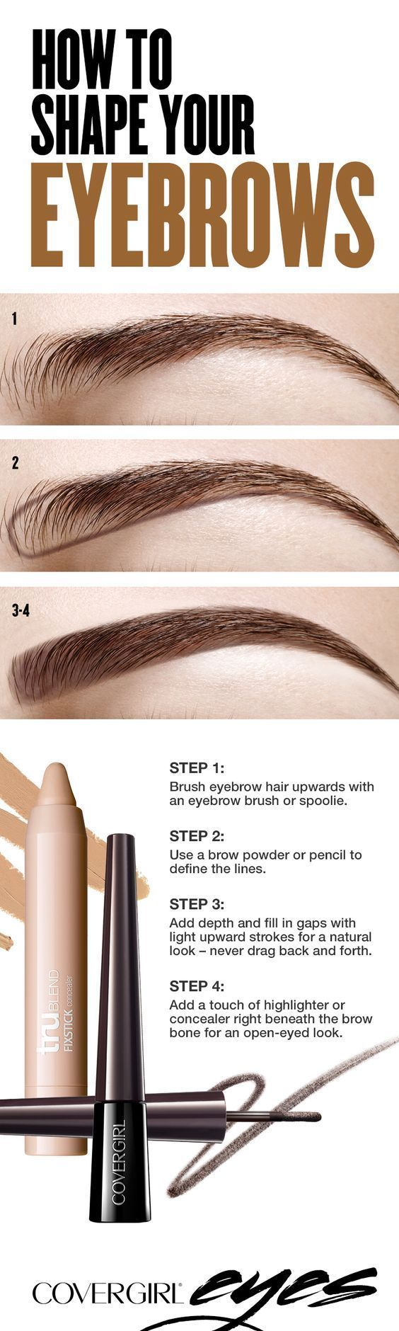 Filling in your eyebrows doesn't have to be a lengthy process. Keep it simple by using a brow powder or pencil to define a bottom