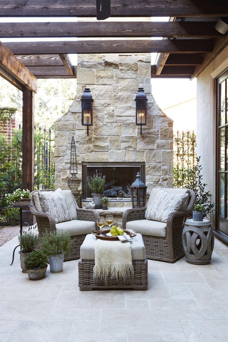 Cozy French country outdoor nook