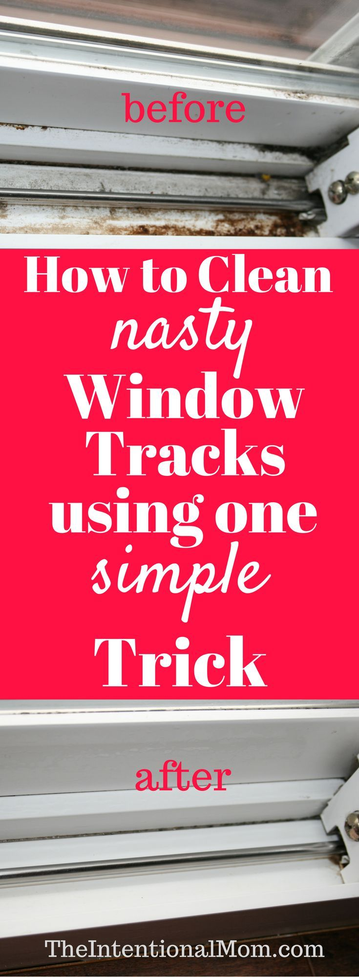 Do you need to clean your nasty window tracks? They can get ugly fast, and no one really likes to clean them. Heres the one simple