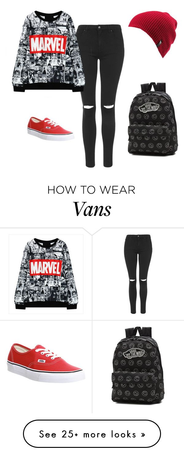 """""""Marvel"""" by royal-unicorn on Polyvore featuring Topshop, Vans and Volcom www.pinterest.com…"""