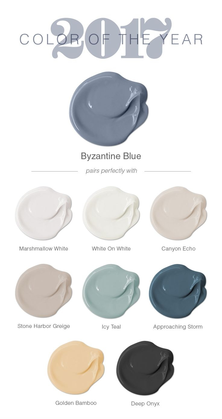 The Glidden® 2017 Color of the Year is Byzantine Blue! Chosen for its versatility and gender neutral properties, this