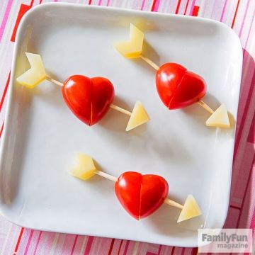 Let your kids make these simple tomato and cheese skewers and they just might fall in love with healthy snacking. Start by