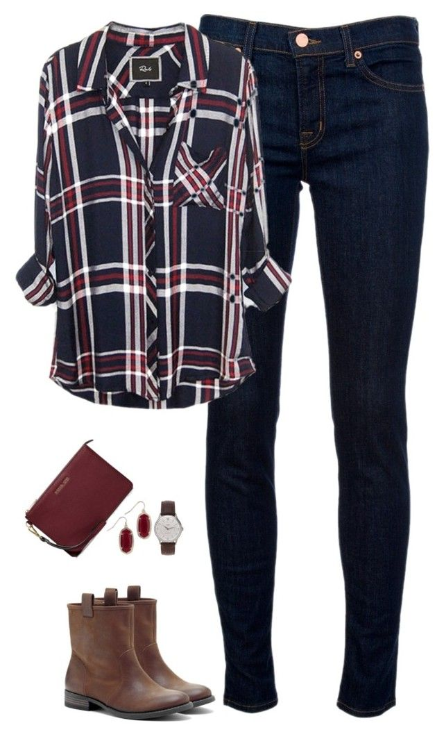 """Deep red & navy"" by steffiestaffie ❤ liked on Polyvore featuring J Brand, Sole Society, J.Crew, Kendra Scott and MICHAEL"