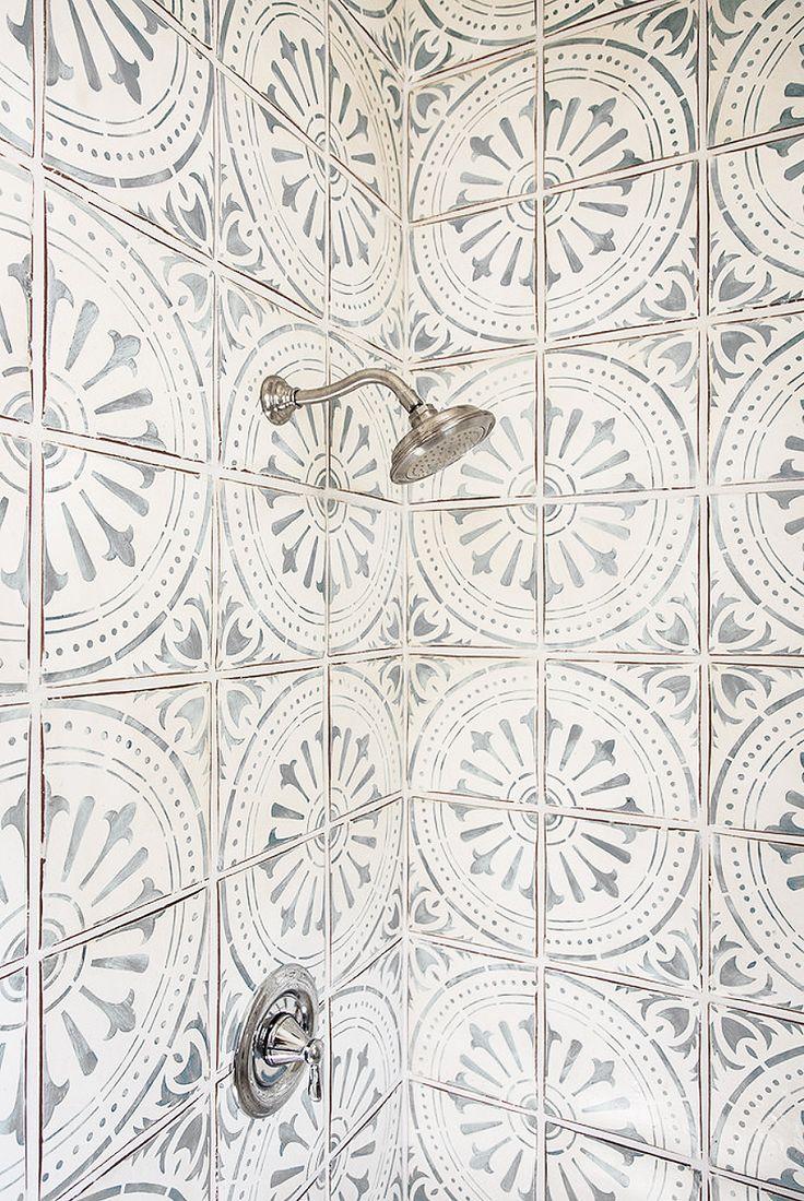 pattern tile in shower INSTEAD of floor? Micoley's picks for #Flooring www.Micoley.com