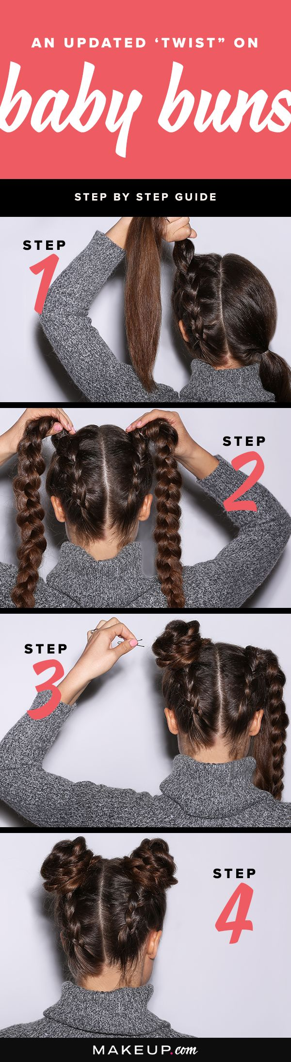 Were giving the baby bun hairstyle a twist with this easy DIY hair tutorial.