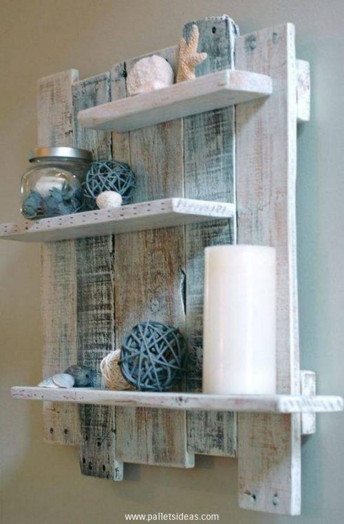 How To Make A Wood Pallet Wall Shelf »There are many advantages to making a Wood Pallet Wall Shelf. First off is the recycling,
