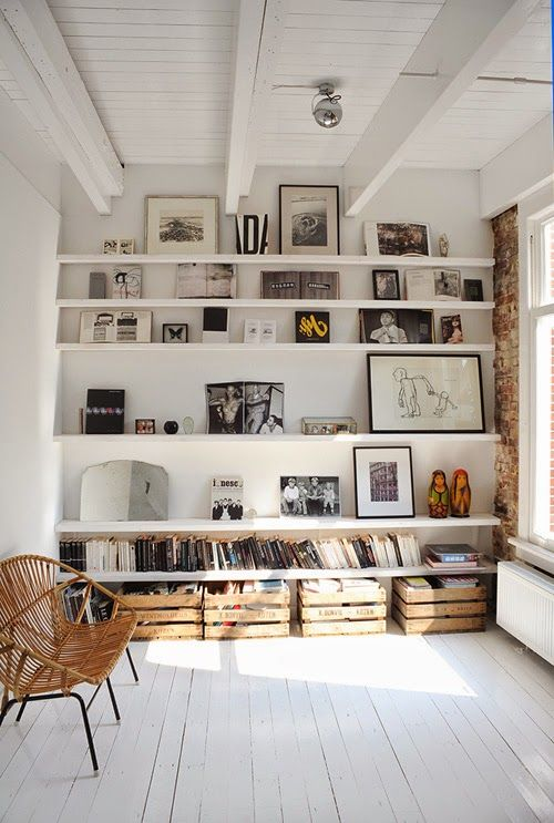 Recreating the perfect art shelves for your home – gallery wall inspiration.