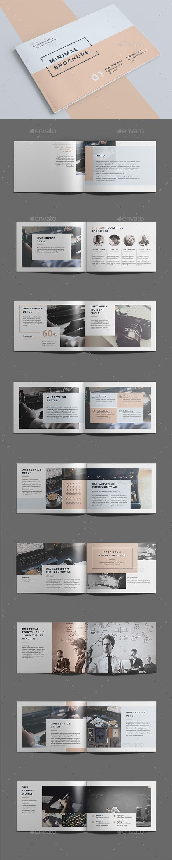 Minimal Brochure Template InDesign INDD. Download here: graphicriver.net/…