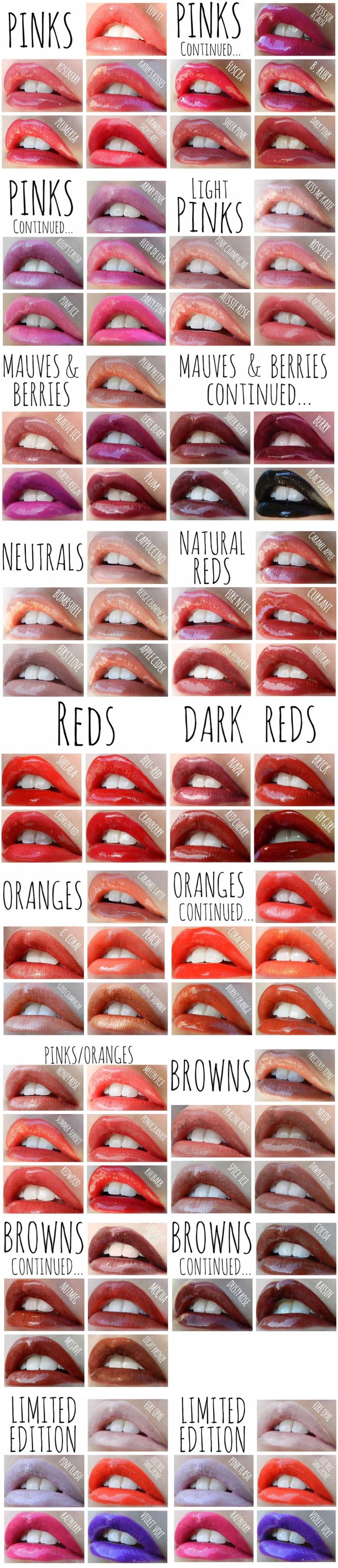 LipSense Colors @GlamorousLipTips on Facebook and Instagram Distributor ID: 228130